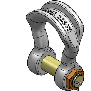 Safelifting GN H14 wide body shackle 1500t