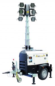 Mobile Lighting mast generator LED